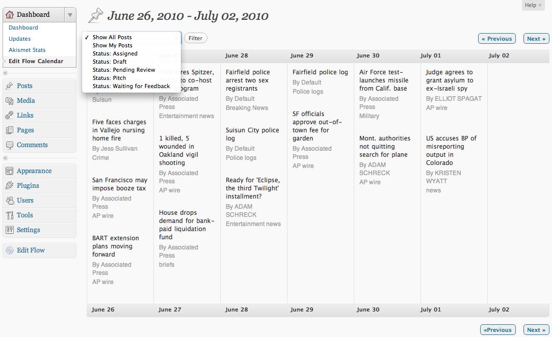 assignment calendar edit flow
